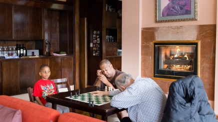 93 365 Chess lessons - not sure who is having the most fun...